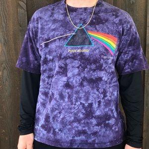 Vintage Pink Floyd Dark Side of the Moon Tie Dye T